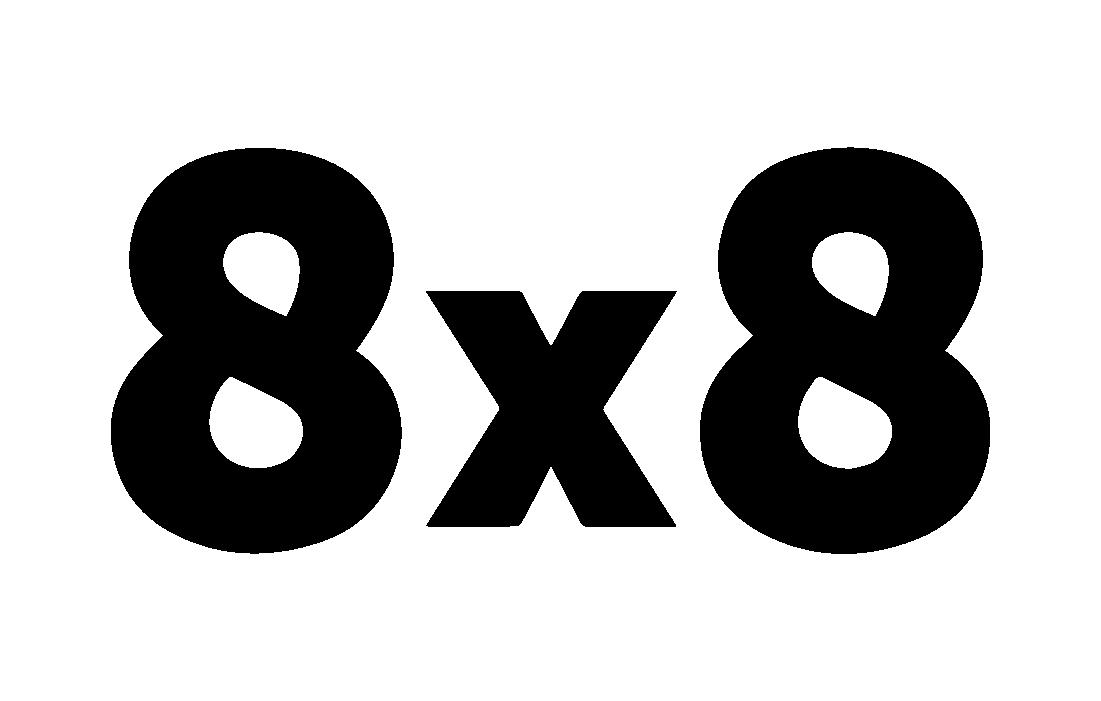8x8 vector logo Black1