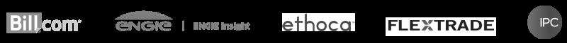 Fintech brochure logo bar